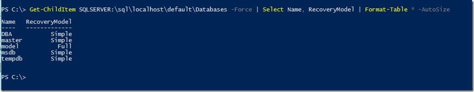 PowerShell-Get-SqlDatabase-Provider