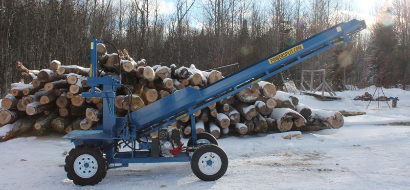 %name Single Vertical Splitter , Firewood Processor, Log lift processor