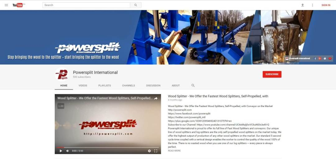 2017 05 09 131747 Major Wood Splitter Company Launches New YouTube Channel for Firewood Suppliers