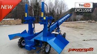 Industrial Double Wood Splitter with Conveyor
