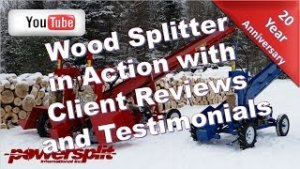 %name Wood Splitter in Action / Client Reviews and Testimonials