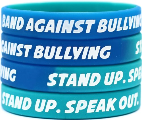 100-Band-Against-Bullying-Wristbands-Stand-Up-Speak-Out-Bracelets-0