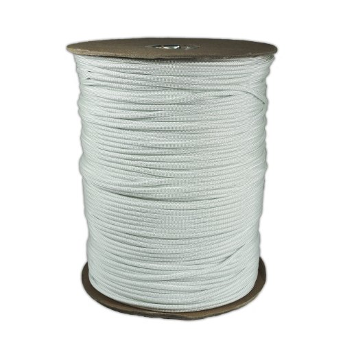 1000-Foot-Spool-White-Parachute-Cord-7-Strand-Core-550-Cord-0