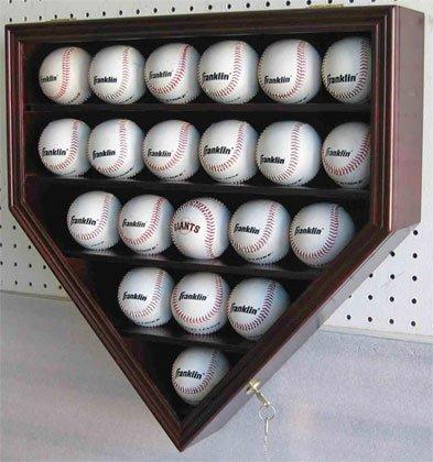 21-MLB-Baseball-Display-Case-Cabinet-Holder-wUV-Protection-Lockable-CHERRY-Finish-0