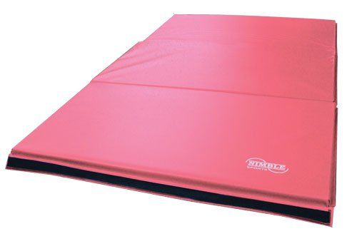 4ft-Purple-Horizontal-Bar-and-6ft-Pink-Folding-Gym-Mat-0-1