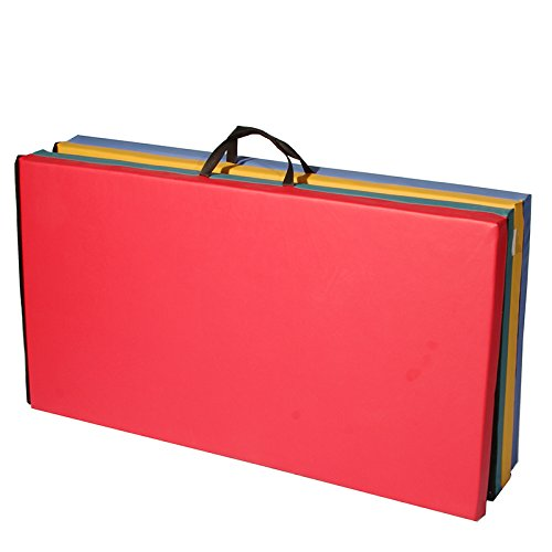 4x8x2-Thick-Folding-Panel-Gymnastics-Mat-Gym-Fitness-Exercise-Multicolor-0-0