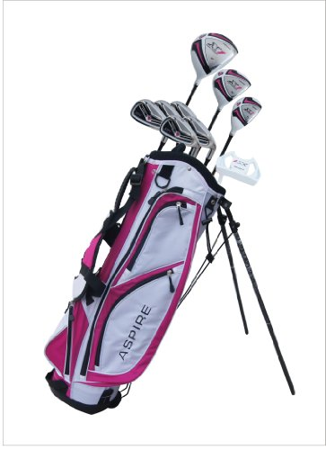 Aspire-X1-Ladies-Womens-Complete-Right-Handed-Golf-Clubs-Set-Includes-Titanium-Driver-SS-Fairway-SS-Hybrid-SS-6-PW-Irons-Putter-Stand-Bag-3-HCs-Cherry-Pink-0-0