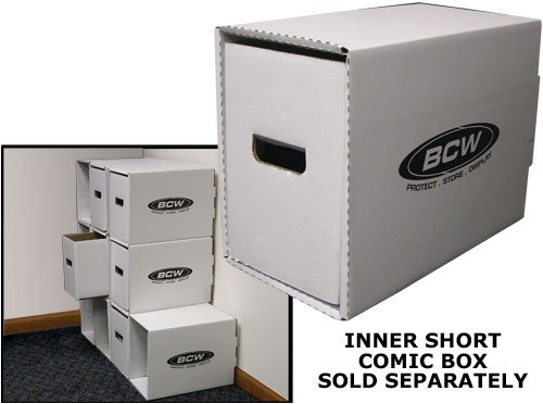 BCW-Short-Comic-Book-Storage-Box-House-Bundle-of-10-Corrugated-Cardboard-Storage-Box-Comic-Book-Collecting-Supplies-0