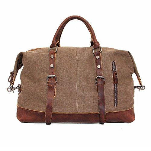 CLELO-B305-Casual-Canvas-Weekender-Gym-Bag-Travel-Duffle-Bag-0-1