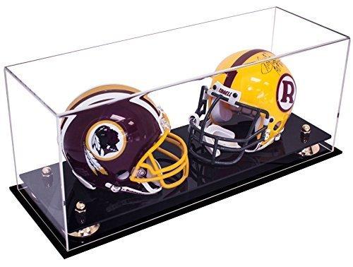 Deluxe-Acrylic-Collectible-NFL-NCAA-Double-Mini-Football-Helmet-Mini-Goalie-Mask-Display-Case-with-UV-Protection-0
