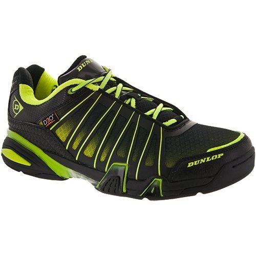 Dunlop-Ultimate-Tour-Indoor-Mens-RacquetballSquash-Court-Shoe-BlackGreen-Non-Marking-0