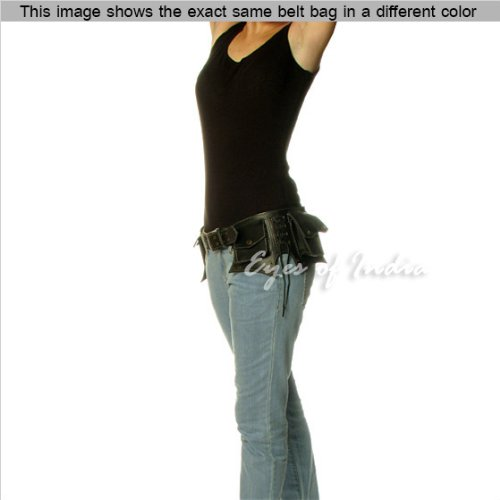 EYES-OF-INDIA-BROWN-LEATHER-BELT-WAIST-BUM-HIP-POUCH-BAG-Utility-Fanny-Pack-Pocket-Phone-Trave-0-0