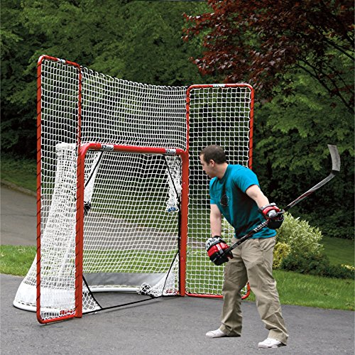 EZGoal-Hockey-Folding-Pro-Goal-with-Backstop-and-Targets-2-Inch-RedWhite-0-0