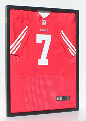 Football-Baseball-Basketball-Cloth-Jersey-XL-Display-Case-98-UV-Protection-Shadow-Box-JC34-BLACK-0