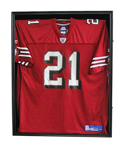 FootballBaseball-Jersey-Display-Case-Frame-Shadow-box-with-ULTRA-CLEAR-98-UV-Protection-Black-Finish-JC01-BL-0-1