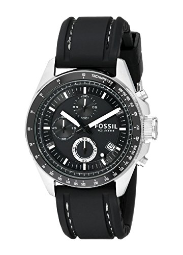 Fossil-Mens-CH2573-Decker-Stainless-Steel-Chronograph-Watch-With-Black-Silicon-Band-0