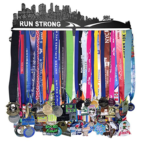GoneForaRun-RUN-STRONG-Runners-Extra-Long-Race-Medal-Hanger-0-0