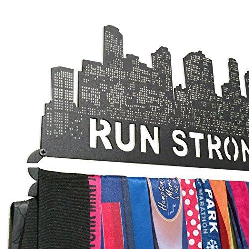 GoneForaRun-RUN-STRONG-Runners-Extra-Long-Race-Medal-Hanger-0-1