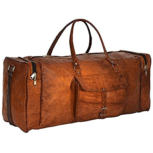 Handmadecart-Leather-Duffel-Bag-for-Men-and-Women-Overgnight-Duffel-Bags-Weekend-Diaper-Travel-Luggage-Gym-Tote-Bag-Tan-0-0