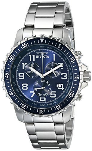 Invicta-Mens-6621-II-Collection-Chronograph-Stainless-Steel-Blue-Dial-Watch-0