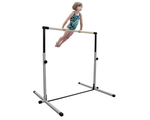 Little-Gym-White-Adjustable-Horizontal-Bar-Tan-Low-Balance-Beam-PinkLight-Blue-Gymnastics-Folding-Mat-0-1