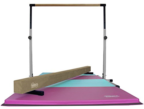 Little-Gym-White-Adjustable-Horizontal-Bar-Tan-Low-Balance-Beam-PinkLight-Blue-Gymnastics-Folding-Mat-0