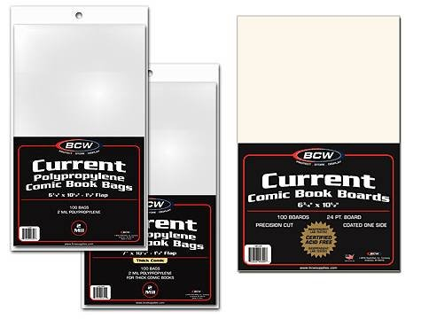 MEGA-DEAL-BCW-Current-Comic-Book-COMBO-PACK-5-Packs-of-Backing-Boards-5-Packs-of-Current-Comic-Bags-Comics-Comic-Books-Archival-Storage-Collecting-Supplies-Thick-7-x-10-12-0
