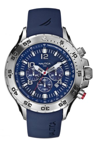 Nautica-Mens-N14555G-NST-Stainless-Steel-Watch-with-Blue-Resin-Band-0-0