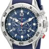 Nautica-Mens-N14555G-NST-Stainless-Steel-Watch-with-Blue-Resin-Band-0