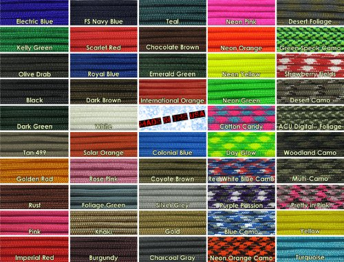 Paracord-Planet-10-25-50-100-Hanks-250-1000-Spools-of-Parachute-550-Cord-Type-III-7-Strand-Paracord-Over-200-Colors-0