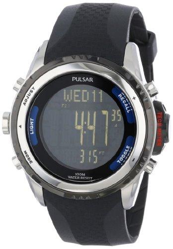Pulsar-Mens-PS7001-Tech-Gear-Digital-Watch-with-Black-Band-0