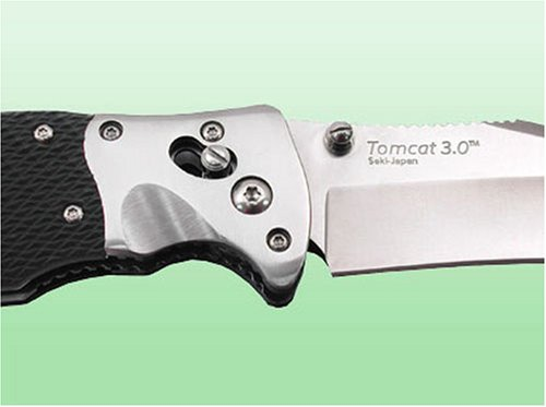 SOG-Specialty-Knives-Tools-S95-N-Tomcat-30-Knife-with-Straight-Edge-Folding-375-Inch-Steel-Blade-and-Kraton-Handle-Satin-Finish-0-1