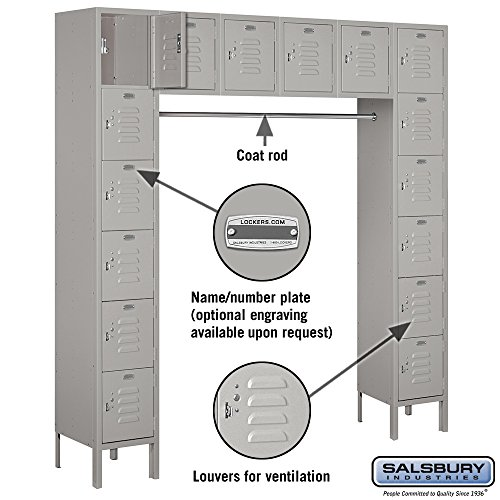 Salsbury-Industries-66016GY-U-Six-Tier-Box-Style-Bridge-16-Box-18-Inch-Deep-Unassembled-Standard-Metal-Locker-Gray-0-0
