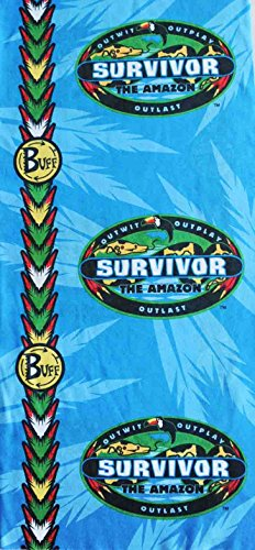 Survivor-Amazon-Complete-Set-of-All-3-Tribe-Buffs-Red-Jacare-Buff-Blue-Tambaqui-Buff-and-Yellow-Fabaru-Buff-as-seen-on-TV-Show-0-1