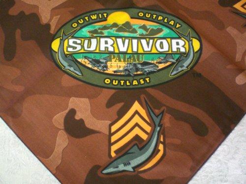 Survivor-TV-Bandanas-Set-of-10-Palau-Camo-Brown-Bandanasl-Representing-Koror-Tribe-0-0