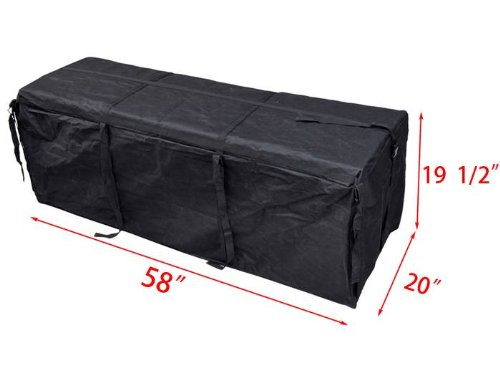 TMS-60inch-x-20inch-Hitch-Mount-Folding-Cargo-Carrier-Basket-w-Water-Resistant-Luggage-Bag-0-0
