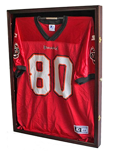 Ultra-Clear-PRO-UV-Basketball-Football-Hockey-Jersey-Frame-Display-Case-LOCKABLE-JC01-MA-0