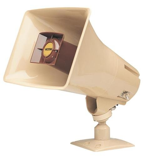 Valcom-V-1030C-ONE-WAY-5-WATT-AMPLIFIED-HORN-BEIGE-0