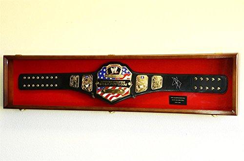 WWE-WWF-WRESTLING-CHAMPIONSHIP-ADULT-SIZE-BELT-DISPLAY-CASE-FRAME-CABINET-BOX-54-0-1