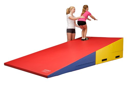 We-Sell-Mats-Gymnastics-Folding-and-Non-Folding-Incline-Cheese-Wedge-Skill-Shape-Tumbling-Mat-0-0