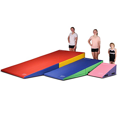 We-Sell-Mats-Gymnastics-Folding-and-Non-Folding-Incline-Cheese-Wedge-Skill-Shape-Tumbling-Mat-0