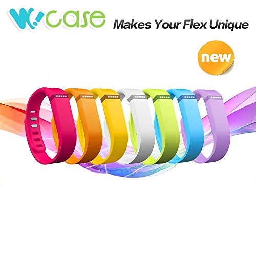 WoCase-Rainbow-Pack-or-Sports-Edition-Pack-Sold-Separately-Accessory-Replacement-Wristband-Bracelet-Pack-with-Claspsor-Fastener-Set-or-FastenerClasp-Set-for-Fitbit-Flex-Activity-and-Sleep-Tracker-0-0