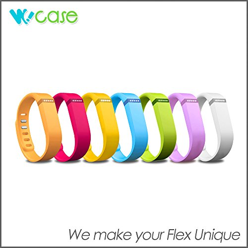 WoCase-Rainbow-Pack-or-Sports-Edition-Pack-Sold-Separately-Accessory-Replacement-Wristband-Bracelet-Pack-with-Claspsor-Fastener-Set-or-FastenerClasp-Set-for-Fitbit-Flex-Activity-and-Sleep-Tracker-0-1