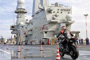Pirelli launched its new Angel GT tire aboard the Italian Navy aircraft carrier Cavour.