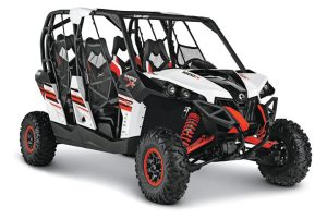 The Maverick MAX features a  new white base color, with the black and Can-Am Red color scheme also available on X package models.