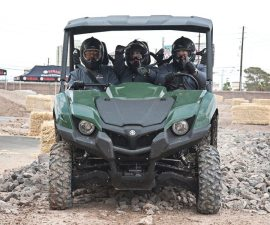 Yamaha offered Viking demos to dealers outside the MGM Grand Hotel & Casino in Las Vegas. Testing the Viking against the Polaris Ranger gave the dealers a better idea about the capabilities of the new side-by-side heading for their dealerships in August.