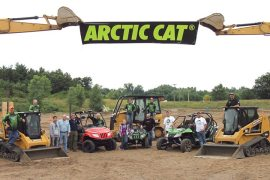 Farm and hunting media joined Arctic Cat at the Extreme Sandbox in Hastings, Minn., where they were offered the chance to not only ride Arctic Cat ATVs and side-by-sides, but to also demo heavy equipment.