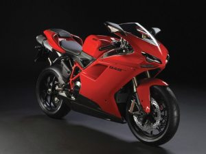 The first motorcycle financed through Ducati Financial Services was a new 2013 red Ducati 848 EVO.