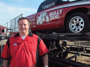 Jarid Vollmer, of Bully Dog's race tech department, is an accomplished National Hot Rod Diesel Association racer. He brought his personal race truck to display the power gains the tuner product provides.
