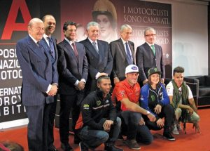 The EICMA inauguration keynote included an impressive lineup of Italian motorcycle industry dignitaries and politicians.
